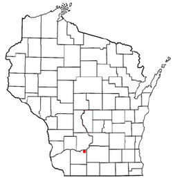 Location of Arena, Wisconsin