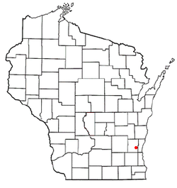Location of Jackson, Washington County, Wisconsin