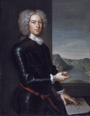 Paul Mascarene - Portrait by John Smibert, 1729
