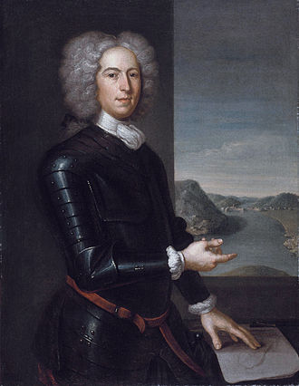 40th (the 2nd Somersetshire) Regiment of Foot - Nova Scotia Lt. Gov. Paul Mascarene, commander of the 40th, portrait by John Smybert, 1729