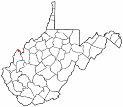 Location of New Haven, West Virginia