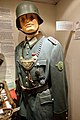 "WW2 German army military police Feldgendarmerie tunic, gorget, DRL sport badge (Deutsches Reichssportabzeichen), SS badge, Sam Browne crossbelt, etc. Lofoten Krigsminnemuseum (""Gestapo office"") 2019-05-08 DSC00158.jpg"