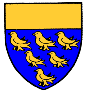 West Sussex - The Coat of Arms of West Sussex County Council, used 1889 to 1975, is based on the heraldic shield of Sussex
