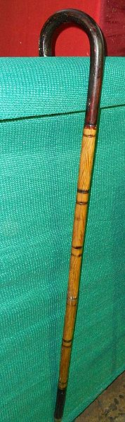 File:Walking stick made with bamboo cane.jpg