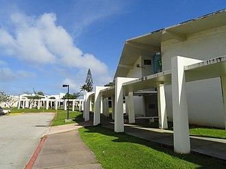 University of Guam - University of Guam walkway and Fine Arts building