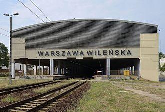 Warszawa Wileńska station - Image: Warszawa Wileńska 2015 07