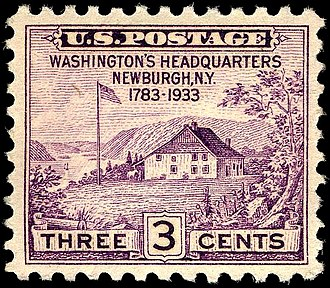 Washington's Headquarters State Historic Site - Washington's HQ depicted on 1933 U.S. commemorative stamp