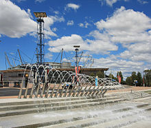 Water Fountain In The Sydney Olympic Park