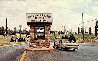 Webb Air Force Base - Main Gate at Webb AFB