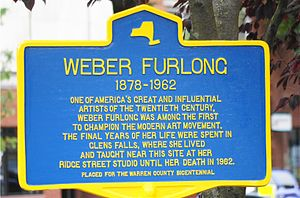 Wilhelmina Weber Furlong -  New York State Historic Marker located at City Hall in Glens Falls, New York