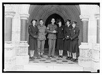 Wedding group at St. George's. Sgt. Brown (Australian) LOC matpc.14253.jpg