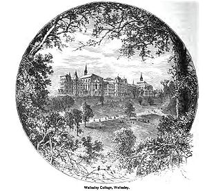 Wellesley College - Campus of Wellesley College as it appeared circa 1880