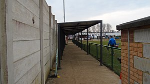 Wellingborough Town F.C. - wellingborough town fc hotel side covered walkway