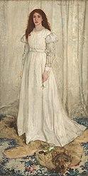 James Abbott McNeill Whistler: Symphony in White, No. 1: The White Girl