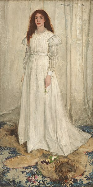 Figure painting - Symphony in White, No. 1: The White Girl (1862) by James Abbott McNeill Whistler