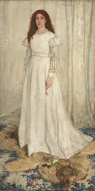 Salon des Refusés - Image: Whistler James Symphony in White no 1 (The White Girl) 1862