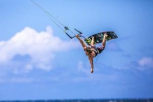 Jesse Richman - Jesse Richman big air kiteboarding - photo by Jimmie Hepp