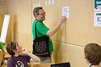 Wikimedia Hackathon Vienna 2017-05-19 Hacking Blunzn 002.jpg