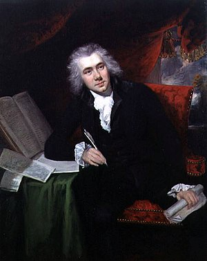 Slavery in Britain - William Wilberforce (1759–1833), leader of the movement to abolish the slave trade.