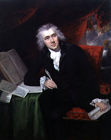 William Wilberforce (1759-1833), politician and philanthropist who was a leader of the movement to abolish the slave trade. Wilberforce john rising.jpg