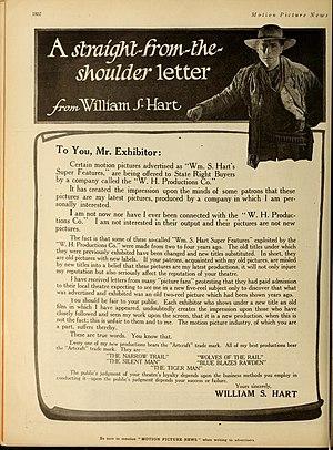 'Blue Blazes' Rawden - William S. Hart letter