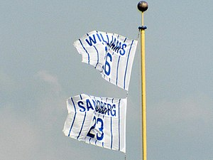 Ryne Sandberg - Retired number at Wrigley Field