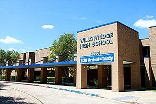 Willowridge High School (Houston) Public high school in Houston, Texas, United States
