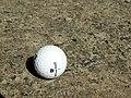 Wilson Staff golf ball on sand.jpg