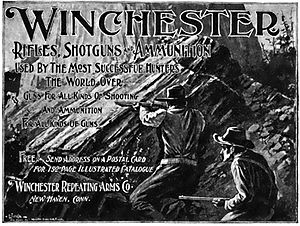 Winchester Repeating Arms Company - Magazine advertisement from 1898.