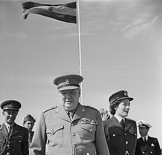 Egypt–United Kingdom relations - Churchill visits his old regiment during the Cairo Conference, Egypt, December 1943