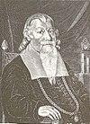 Peder Winstrup på en samtidig gravering.
