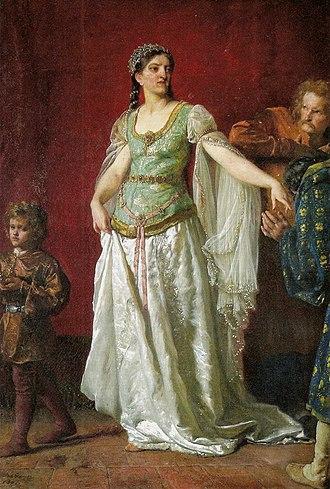 Richeza of Lotharingia - Portrait by Wojciech Gerson, 1891.