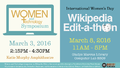 Women and Technology Symposium and Wikipedia Edit-a-thon Postcard.png