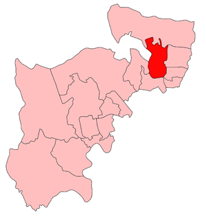 Wood Green (UK Parliament constituency) - Wood Green in Middlesex, showing boundaries 1918-50
