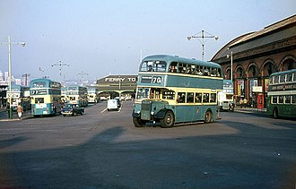 Birkenhead Transport - Birkenhead Transport buses at Woodside Ferry Terminal in September 1966