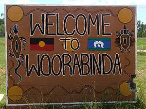 Woorabinda, Queensland - Image: Woorabinda Mural, North Road