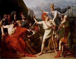 Iliad - The Wrath of Achilles (1819), by Michel Drolling.