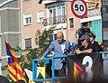 Xavi Coral de TV3 retransmetent l'acte de la Via Lliure durant la diada de Catalunya 2015 - tram 1.jpg