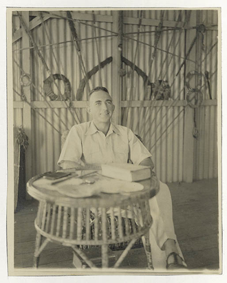 Xavier Herbert - 1 April 1938, the day he received news of winning the Sesquicentenary Library Prize