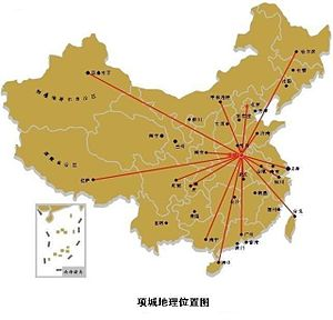 Xiangcheng City - A map of Xiangcheng