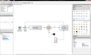 YEd - Image: Y Ed screenshot process normal flow bpmn
