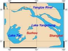 Yangcheng Lake - Location of Yangcheng Lake
