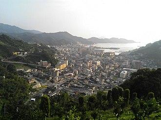 Yawatahama, Ehime - Yawatahama seen from a nearby mountain
