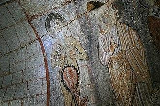 Onuphrius - Fresco of Onuphrius (on left) in the Snake Church.