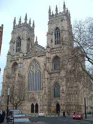 Cambridge Camden Society - The west front of York Minster, an example of Decorated Gothic architecture