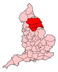 Area served by Yorkshire Ambulance Service
