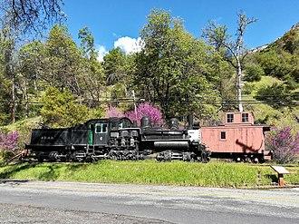 Yosemite Valley Railroad - Train in El Portal.