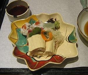 Tofu skin - Image: Yuba meal