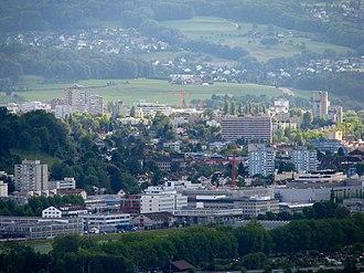 Urdorf - Schlieren (in the foreground) and Urdorf as seen from Käferberg-Waidberg