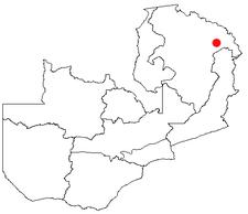 Location of Isoka in Zambia